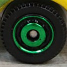 Matchbox Wheels : Disc - Green