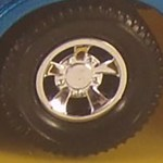Matchbox SuperKings Wheels : 5 Spoke Sport - Chrome