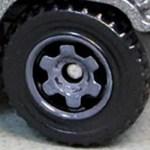 Matchbox 6 Spoke Ringed Gear - Grey