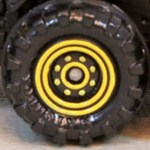 Matchbox Wheels : 8 Dot Dual Ring - Yellow