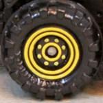 Matchbox Wheels : 8 Dot Dual Ring - Yellow