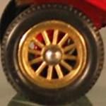 Models of Yesteryear Wheels : 12 Spoke Brass - 11mm