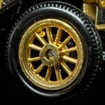 Matchbox Models of Yesteryear Wheels : 12 Spoke Plastic - Gold