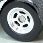 Matchbox Wheels : 5 Spoke Hot Rod - Chrome