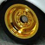 Matchbox Wheels : Steel Rim Rubber Tyres - Gold