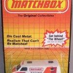 Matchbox 1985 Blister