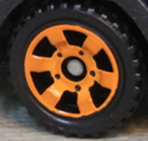 Matchbox Wheels : 6 Spoke Utility - Orange