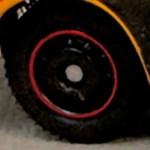 Matchbox Wheels : Disc - Black-Red RIm