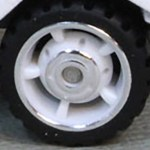 Matchbox Wheels : 5 Spoke Centre Hub Rubber - White