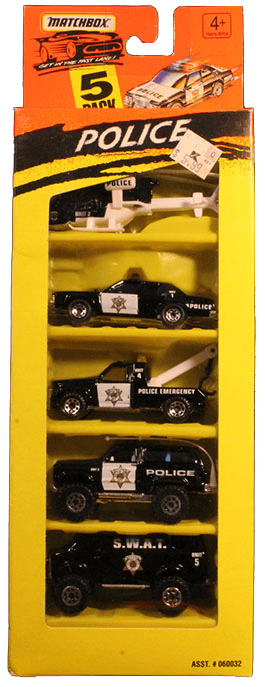 Matchbox 5 Pack - 1995 #02 Police