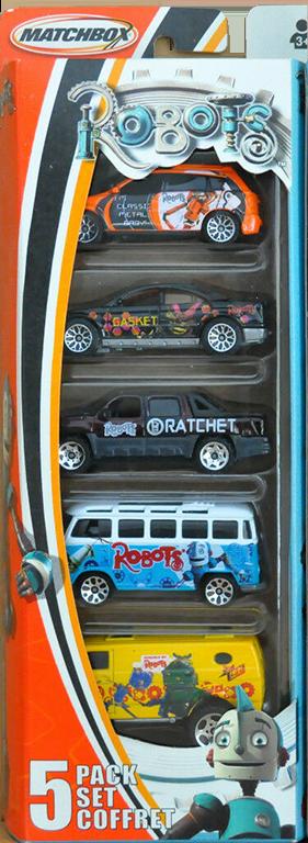 Matchbox 5 Pack : 2005 – Robots