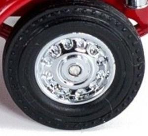 Matchbox Models of Yesteryear Wheels: Solid - Visible Rivet - Chrome