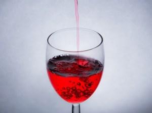 血液っぽい感じだけど、ワイン