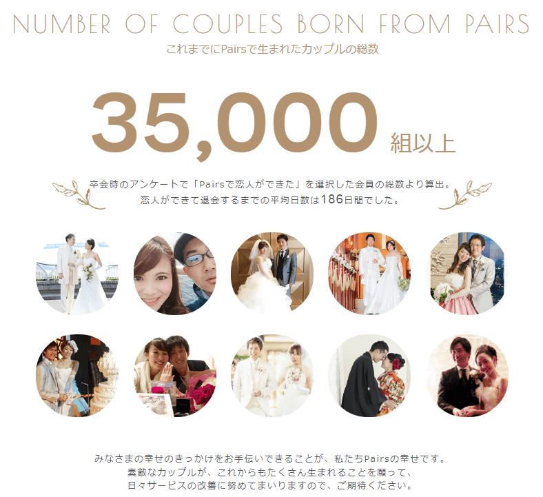 Psirsで35000組以上のカップルが誕生したという公式発表とし幸せそうなカップルたちの写真