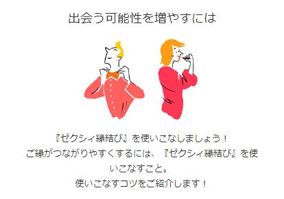 婚活サイトゼクシィ縁結びの使い方画面