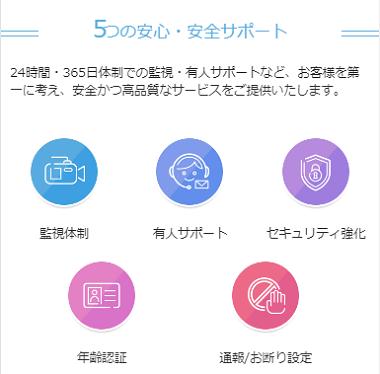 PCMAX公式サイト内の安全サポートを説明する項目の画像
