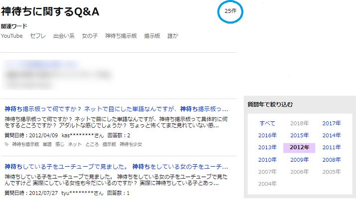 Yahoo! 知恵袋においての神待ちに関するQ&Aの投稿1
