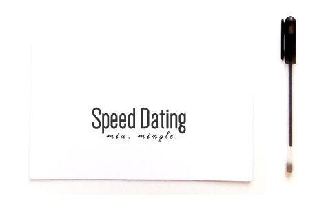 speed dating cards