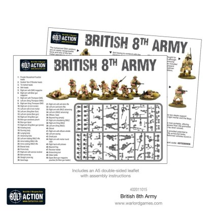 Warlord 402011015 Bolt Action British 8th Army