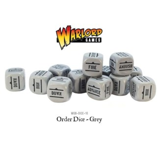 Warlord Games WGB-DICE-10 Bolt Action Grey Orders Dice
