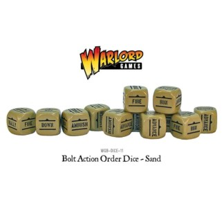 Warlord Games WGB-DICE-11 Bolt Action Sand Orders Dice