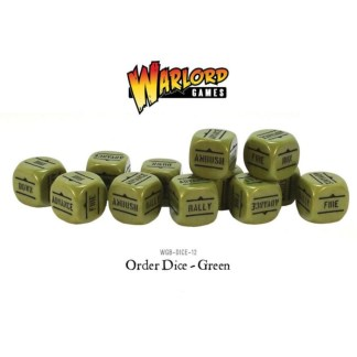 Warlord Games WGB-DICE-12 Bolt Action Green Orders Dice
