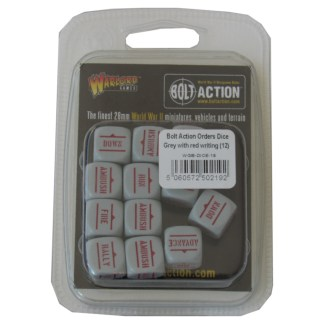 Warlord Games WGB-DICE-18 Bolt Action Grey with Red Orders Dice