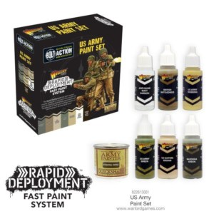 Warlord 822613001 Bolt Action US Army Paint Set