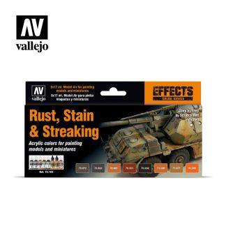 Vallejo Model Color 70183 Rust Stain and Streaking Set