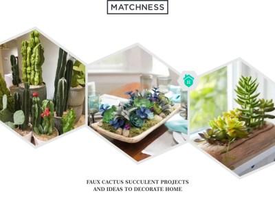 2. faux cactus succulent projects