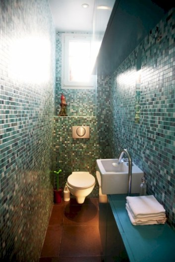 Adorable mosaic marble shower tile for your bathroom 12