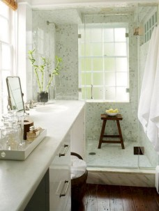 Adorable mosaic marble shower tile for your bathroom 28