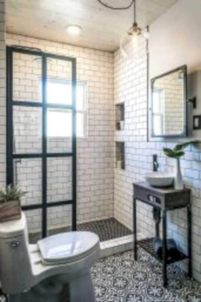 Adorable mosaic marble shower tile for your bathroom 32