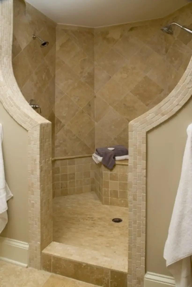 Amazing doorless shower design ideas 05