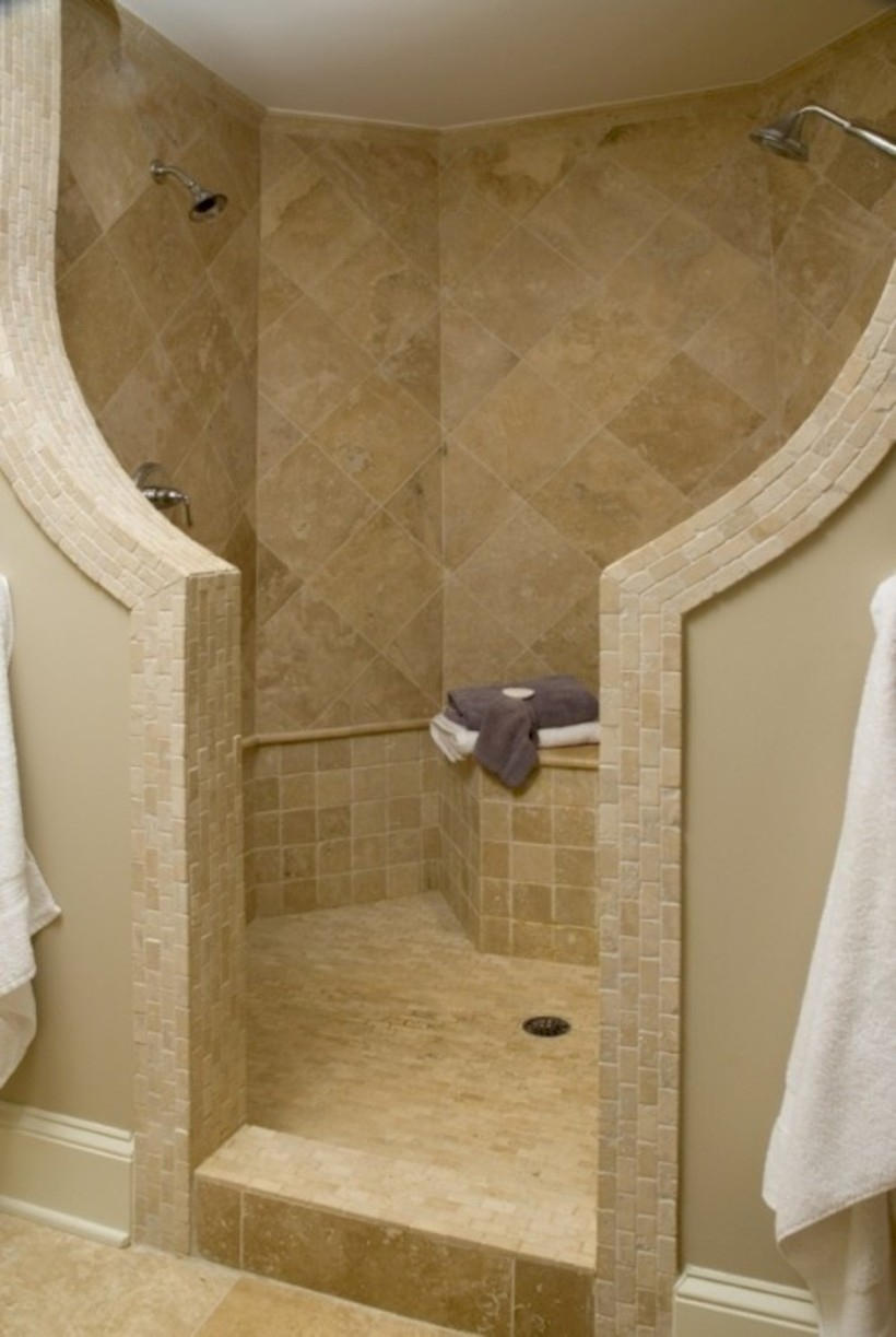Amazing doorless shower design ideas 05