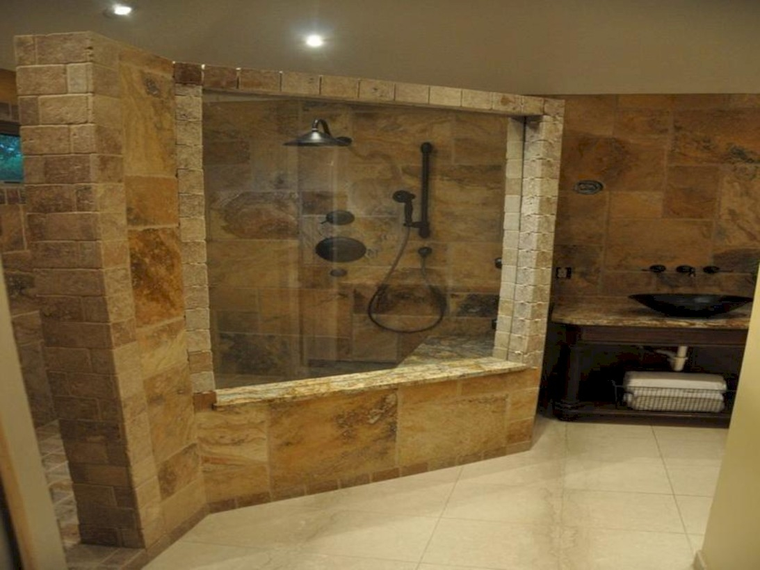 Amazing doorless shower design ideas 06