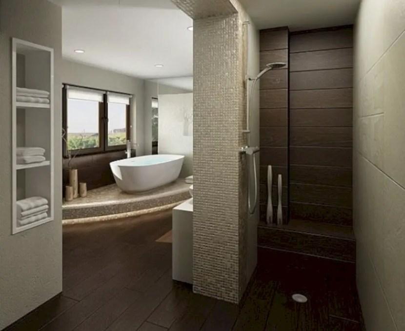 Amazing doorless shower design ideas 13