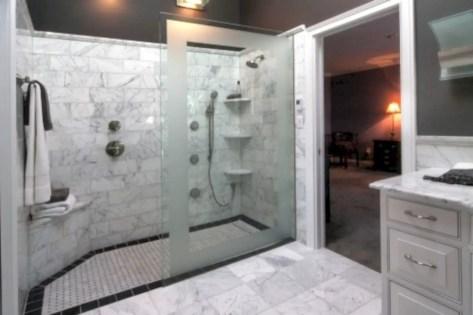 Amazing doorless shower design ideas 21