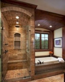 Amazing doorless shower design ideas 28