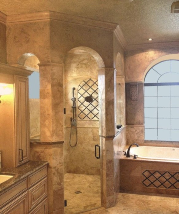 Amazing doorless shower design ideas 32