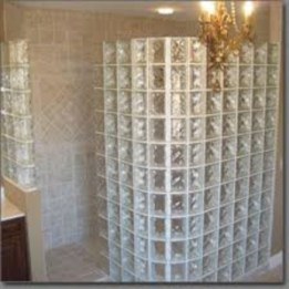 Amazing glass brick shower division design ideas 03