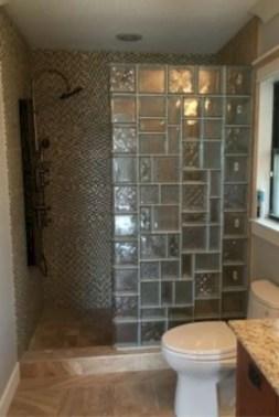 Amazing glass brick shower division design ideas 15
