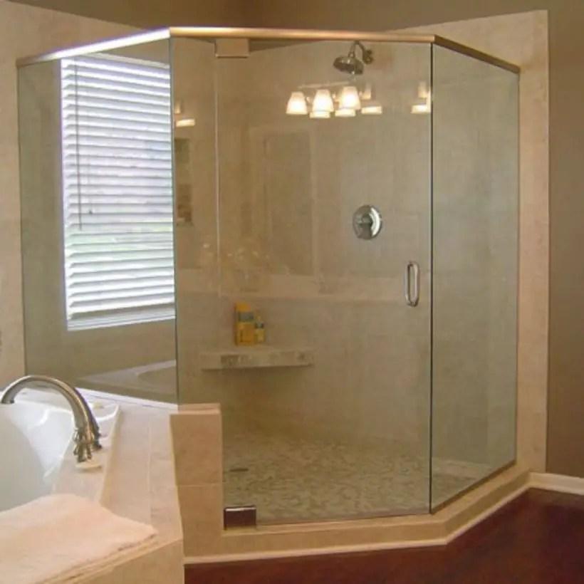 Beautiful bathroom frameless shower glass enclosure 03