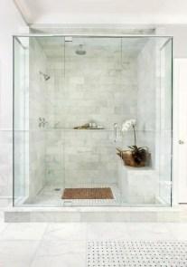 Beautiful bathroom frameless shower glass enclosure 04