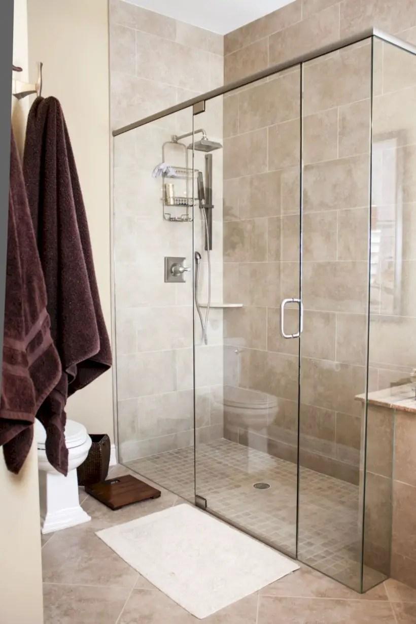 Beautiful bathroom frameless shower glass enclosure 05