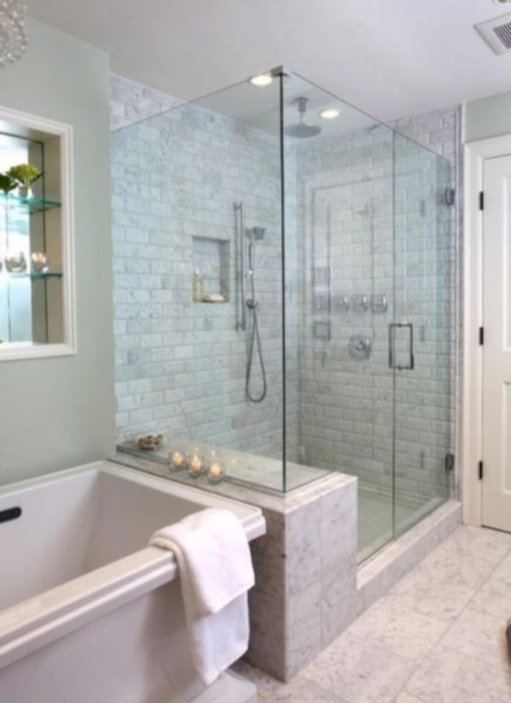 Beautiful bathroom frameless shower glass enclosure 08