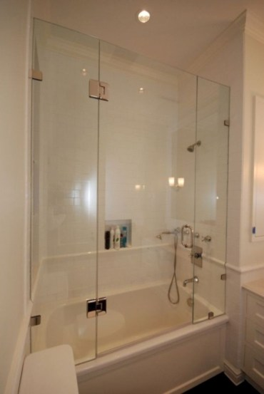 Beautiful bathroom frameless shower glass enclosure 16