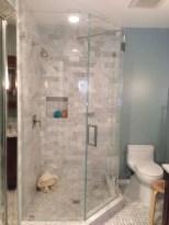 Beautiful bathroom frameless shower glass enclosure 17