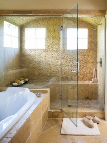 Beautiful bathroom frameless shower glass enclosure 21
