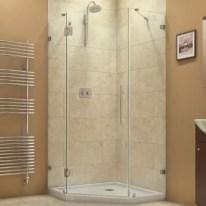 Beautiful bathroom frameless shower glass enclosure 26